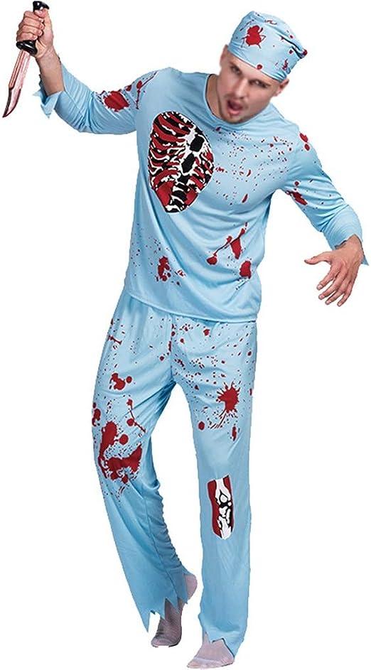 ZDNALS Disfraz De Halloween Adulto Zombie Horror Sangriento Doctor ...