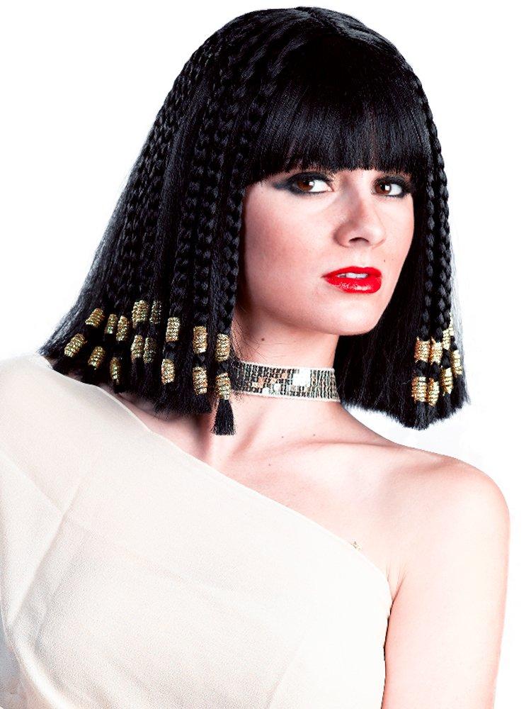 Enigma Wigs Women's Egyptian Queen, Black, One Size 00337 BLK