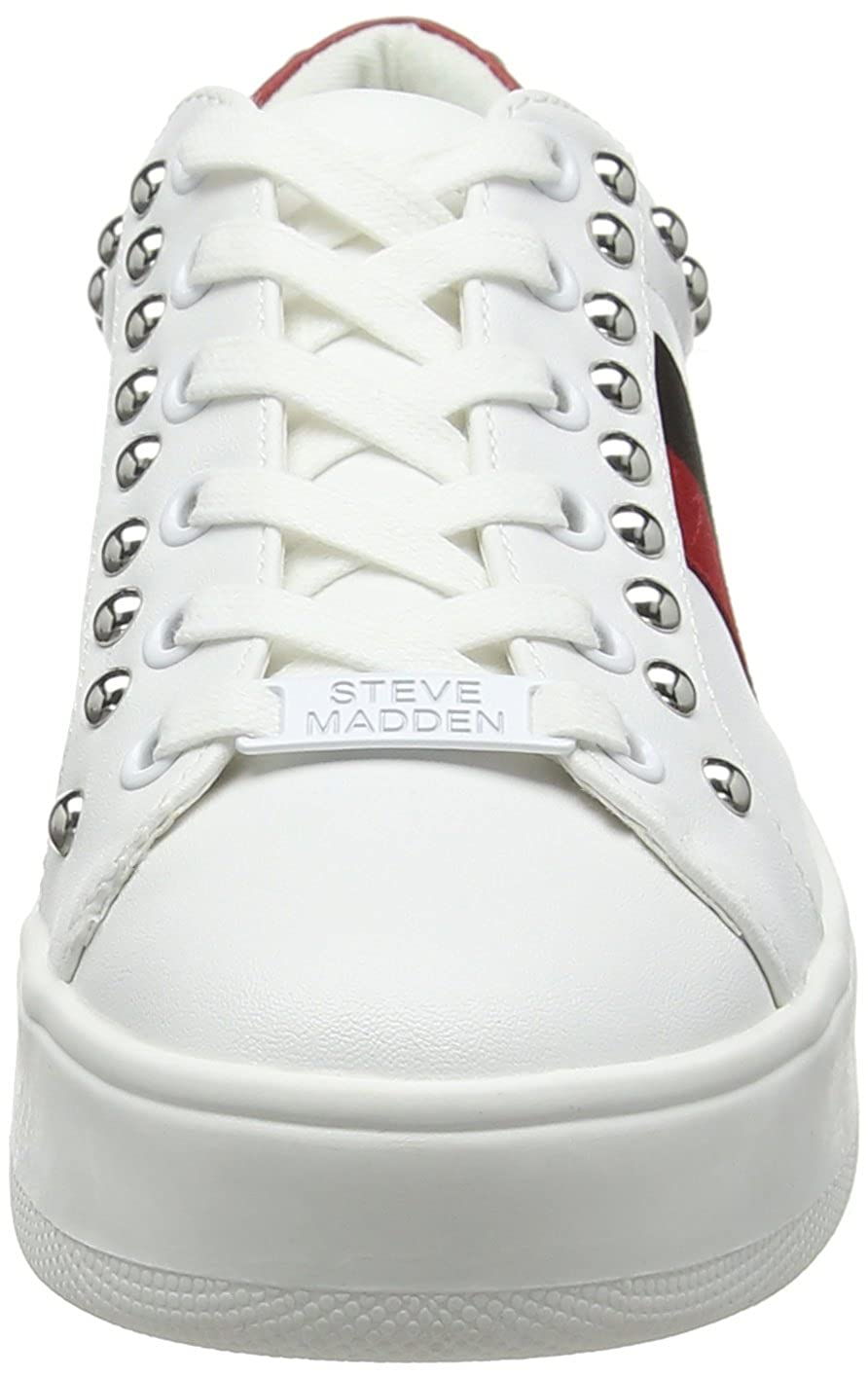 White Steve Madden Footwear Womens Belle Sneaker Trainers White Multi 077 5 UK 38 EU