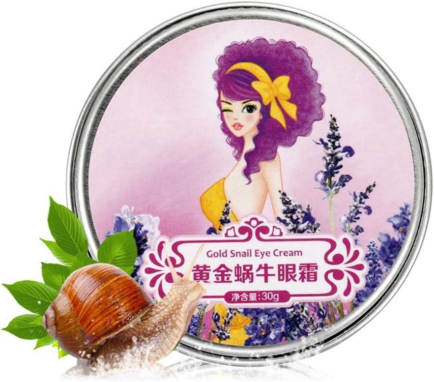 Kission Crema de baba de caracol para contorno de ojos, antiarrugas, anti-ojeras, anti-hinchazón