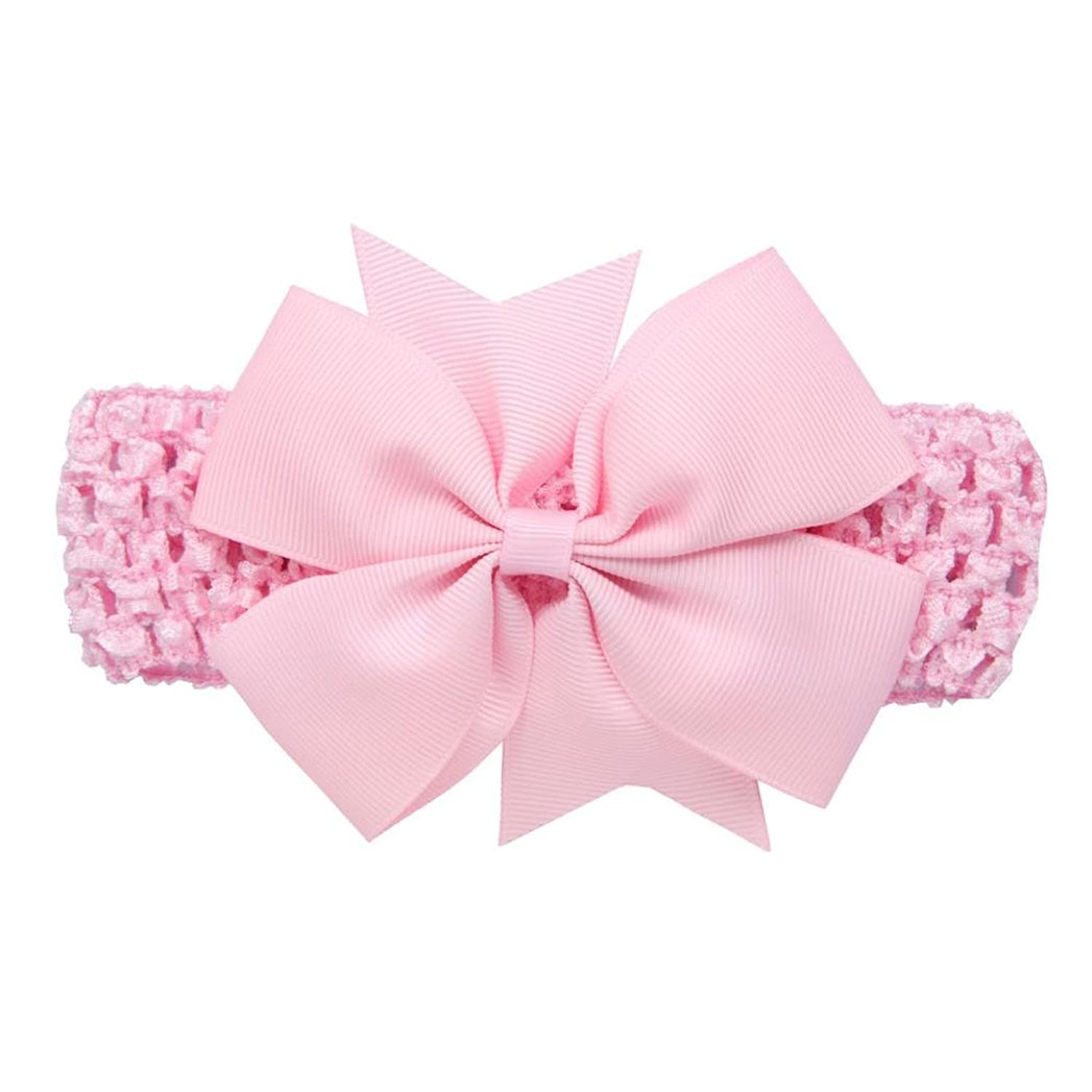 vestitiy Cute Baby Girls Bowknot Headbands Soft Hair Accessories for Infant Toddler Hair Band Headwear