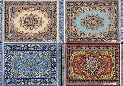 Free 4 Beautiful Floral Drink Coasters - Oriental Carpet Designs - Absorbent Glass Mats