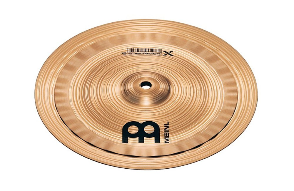 Meinl Cymbals GX-8/10ES Generation X Serie Beckenset Electro Stack 20, 3 (8 Zoll) - 25, 4 cm (10 Zoll)