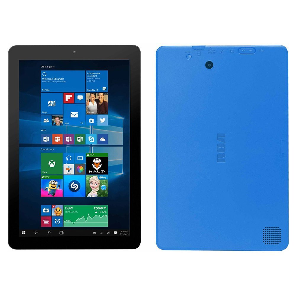 RCA Cambio 10.1'' 2-in-1 Tablet 32GB Intel Quad Core Windows 10 Blue Touchscreen Laptop Computer with Bluetooth and WIFI