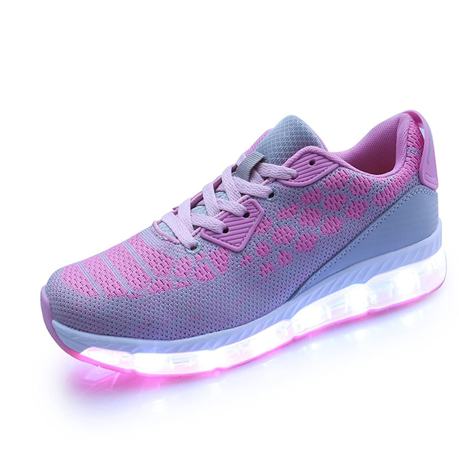 24XOmx55S99 Dance Breathable LED Light Up Shoes Flashing Sneakers for Women Girls
