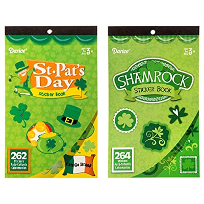 LightShine Products 2 Saint Patrick's Day Theme Sticker Books for Kids with a Total of 526 Assorted Stickers: Toys & Games