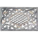 Oakland Living Mississippi Cast Aluminum Doormat, Antique Pewter