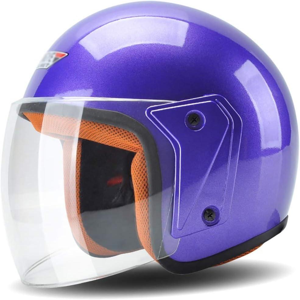 男性と女性のためのヘルメット/オートバイヘルメット夏の日焼け止めヘルメットFour Seasonsユニバーサル4色ライトパーソナリティファッションヘルメット 保護 (Color : 青)