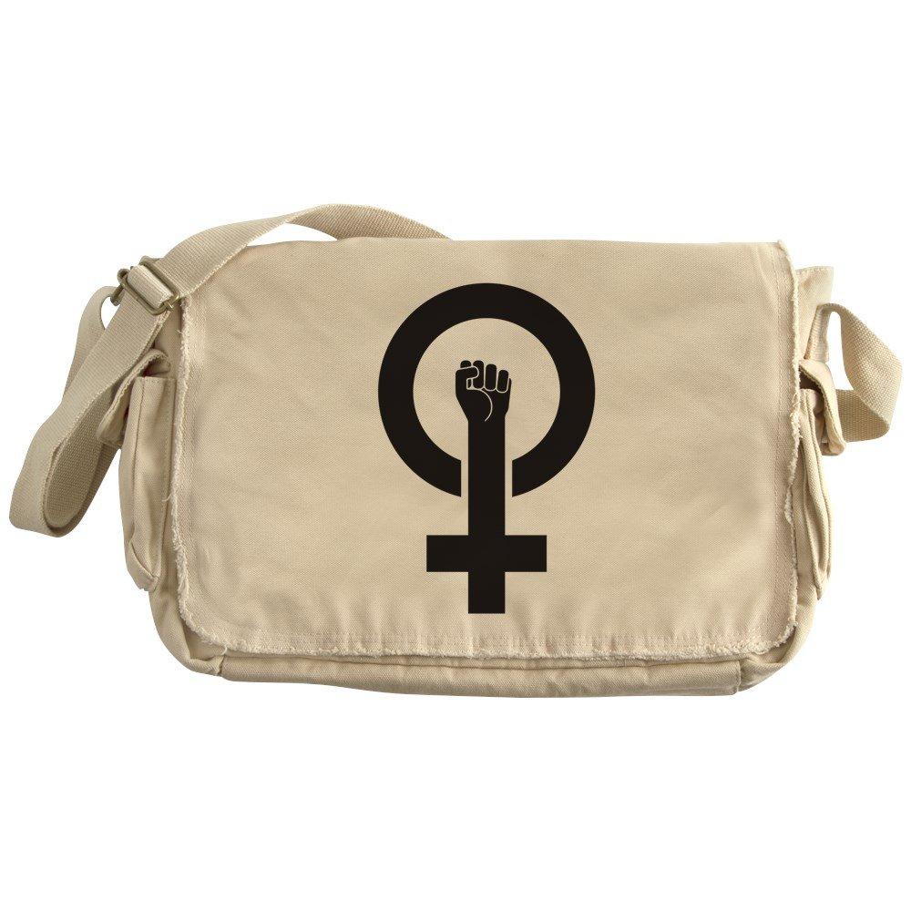 CafePress - Feminist Power - Unique Messenger Bag, Canvas Courier Bag