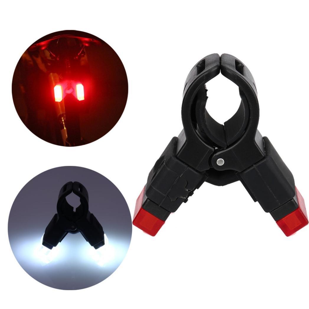 Luz trasera de bicicleta, se carga por USB, ligera para bicicleta de montaña, ciclismo, chip en la placa muy brillante Byste