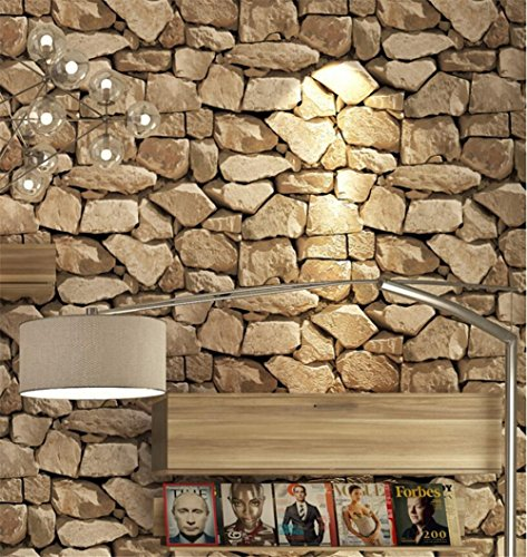 Retro 3D Brick Wallpapers Imitation Stone Retardant Sound Insulation Moisture anti-static Living Room Background wallcoverings (without glue) , 3 Edinburgh 3 Light