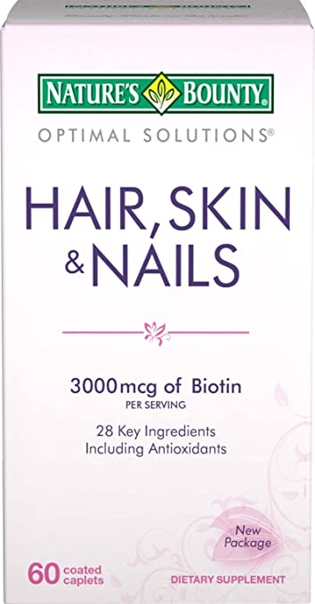 Nature's Bounty Hair, Skin and Nails Formula, 60 Coated Caplets, (Pack of 2)