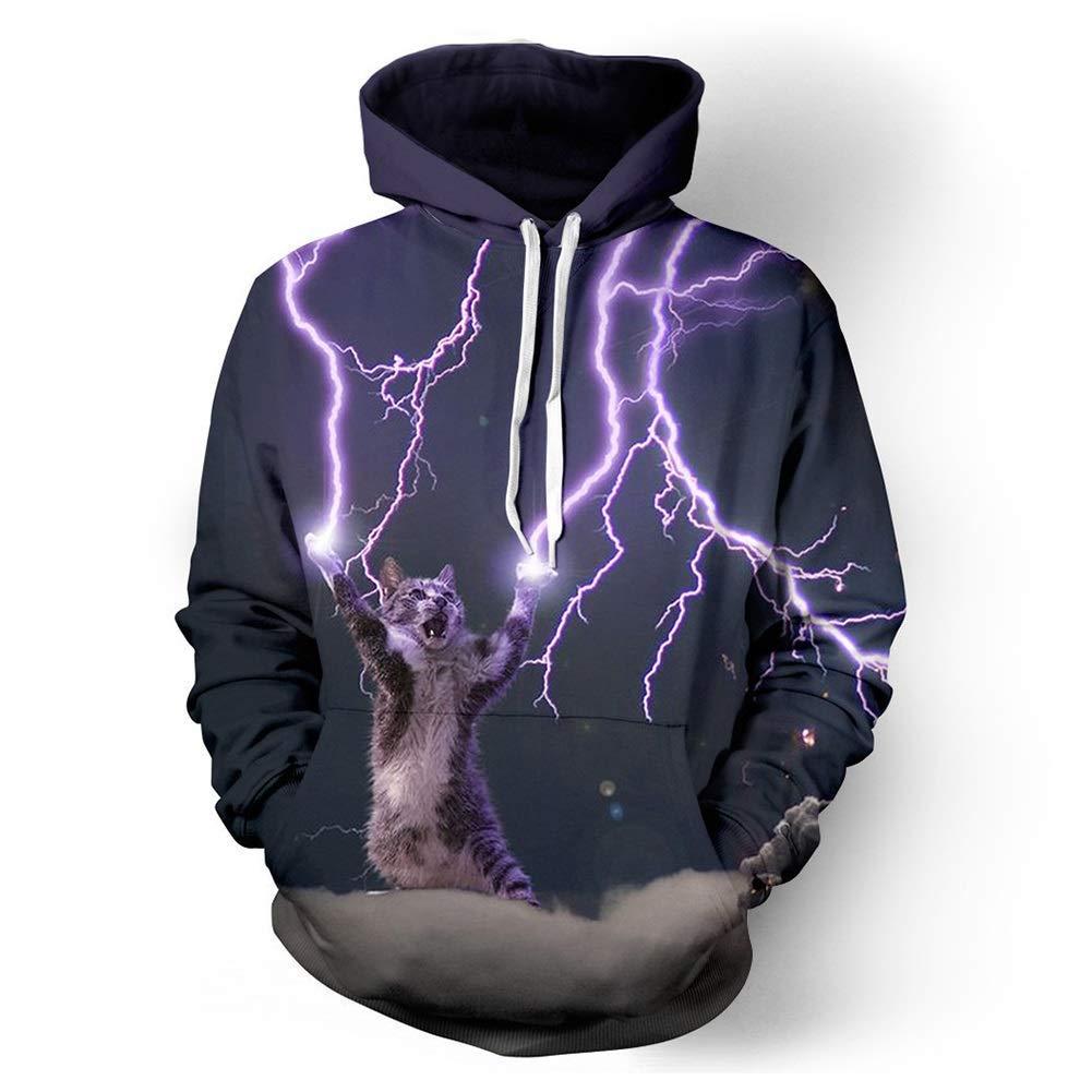 FuweiEncore Männer Hoodie, Sternen Sweatshirt, Kordelzug, Space, Space Hoodie, 3D Hoodie, 3D Hoodies, Hoodie - Stil (Farbe   1, Größe   XXXL) (Farbe   1, Größe   L)