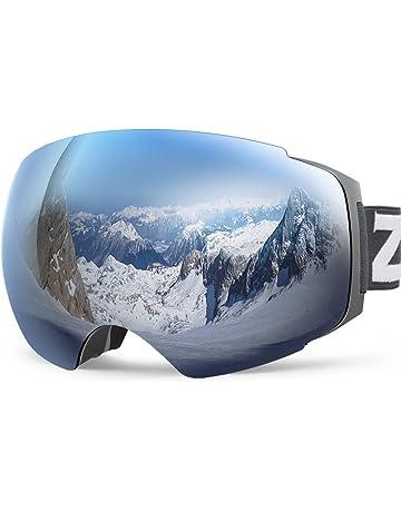 a372b49f9b9 Zionor X4 Ski Snowboard Snow Goggles Magnet Dual Layers Lens Spherical  Design Anti-Fog UV