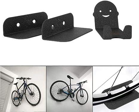 Cutito 3 Piezas Bicicleta Soportes, Acero Soporte Pared Bicicleta ...