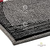 "Cosy House Contemporary Area Rugs for Indoors & Out | Resists Stains, Soil & Fading | Rug for Dining Tables, Living Room Areas, Family Rooms & Bedrooms - Durable Polypropylene - (Lava, 7'10"" X 10'2"")"