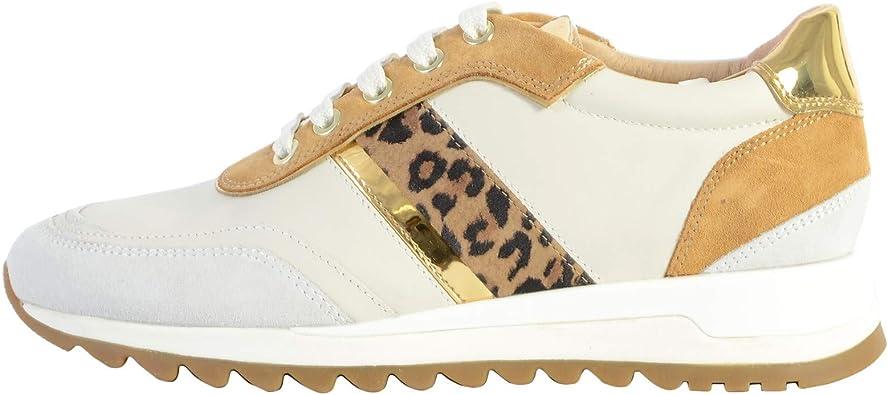 estático sagrado jardín  Geox Tabelya - Zapatillas bajas para mujer, diseño de leopardo, color  blanco: Amazon.es: Zapatos y complementos