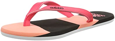 the best attitude 9388a 72646 adidas Eezay Striped W, Tongs Femme, RoseNoir (Rayon de Soleil