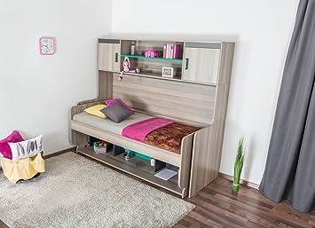 Funktions Kinderbett kinderbett jugendbett mit schreibtisch funktion ablage und
