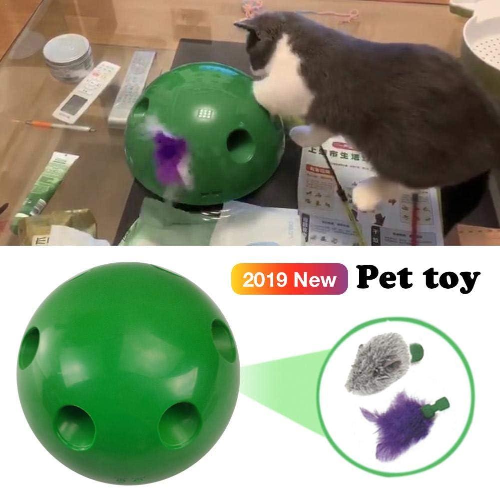 Persiverney Pelota de Salto interactiva para Mascotas, Perros y ...