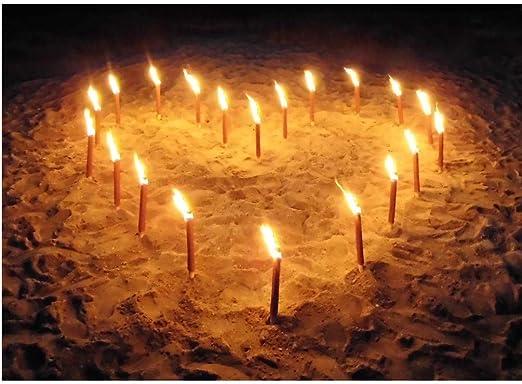 Antorchas de cera, para montar en forma de corazón como declaración de amor, de 45 minutos de combustión: Amazon.es: Jardín