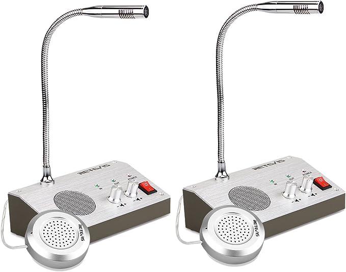 Retevis RT9908 Intercomunicador Ventanilla Sistema de ...