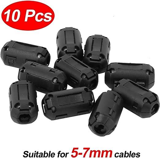 5 Pcs 3.5mm Ferrite Ring Core Noise Suppressor Clip Cable Clip-on Filter
