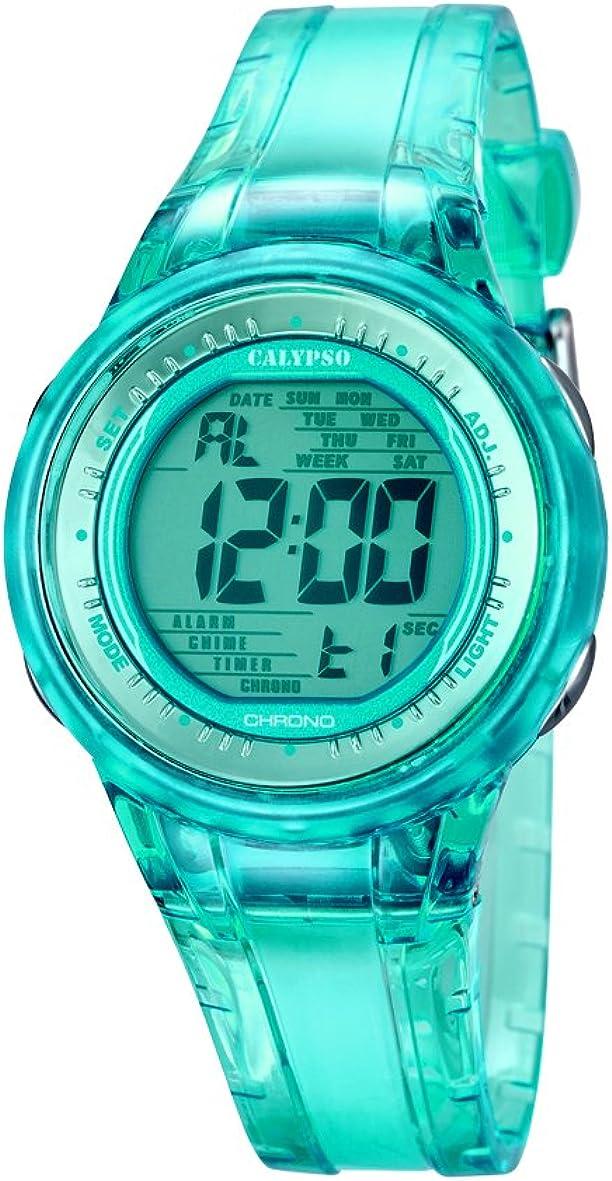 Calypso K5688/4 - Reloj de Pulsera Mujer, Plástico, Color Turquesa