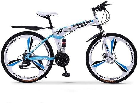 QZ Las Bicicletas de montaña, Bicicleta Plegable 24 de Velocidad ...