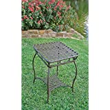 Iron 2-Tier Patio Side Table