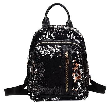 c077a96c197b Amazon.com  HOHOME Women Girls College Fashion Travel School Backpack  School Bag (1 BK)  HoHome