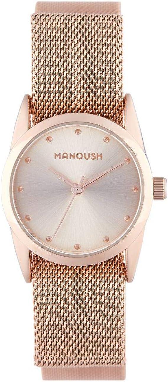 Montre Femme Manoush à Quartz Cadran Rose Gold 26 mm Et