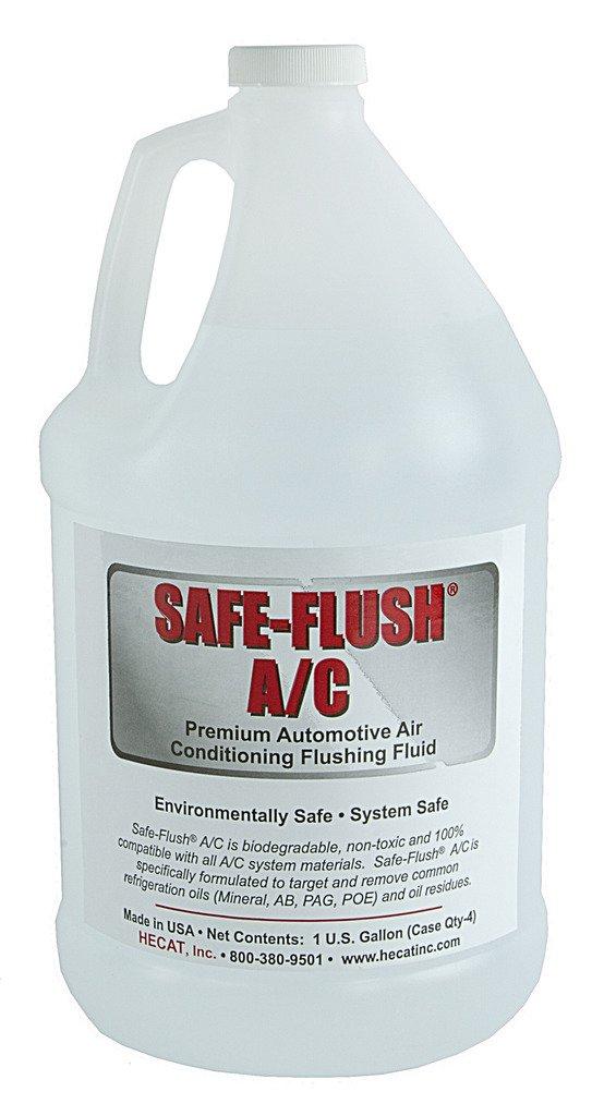 HECAT SAFE-FLUSH A/C (200010A) - Premium Air Conditioning Flush Solvent (Case of 4)