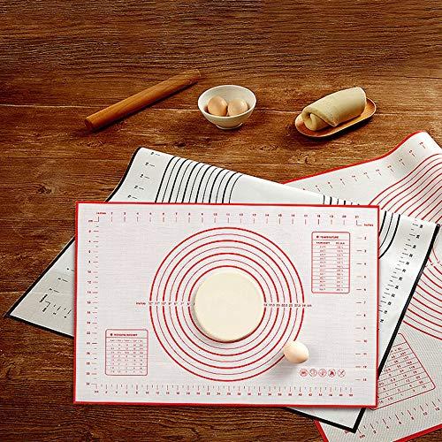 50 x 70 cm Tappetino di Cottura Antiaderente in Silicone Tappetino da Pasticceria leanBonnie Piastra di Cottura in Fibra di Vetro Colore: Rosso