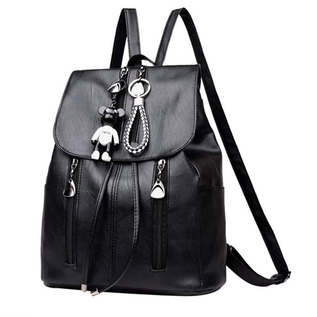 PU Leather Women Backpacks School Bags For Teenage Girls Female Shoulder Bag Travel Daypacks