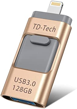 Premium Mini 2 in 1 USB Flash Drive OTG Storage U-Disk Memory Stick External Storage Compatible with All iPhone 6 6S 7 8 X XS XR Android Phone PC Mac iPads Easy Data Transfer Between Devices 8GB