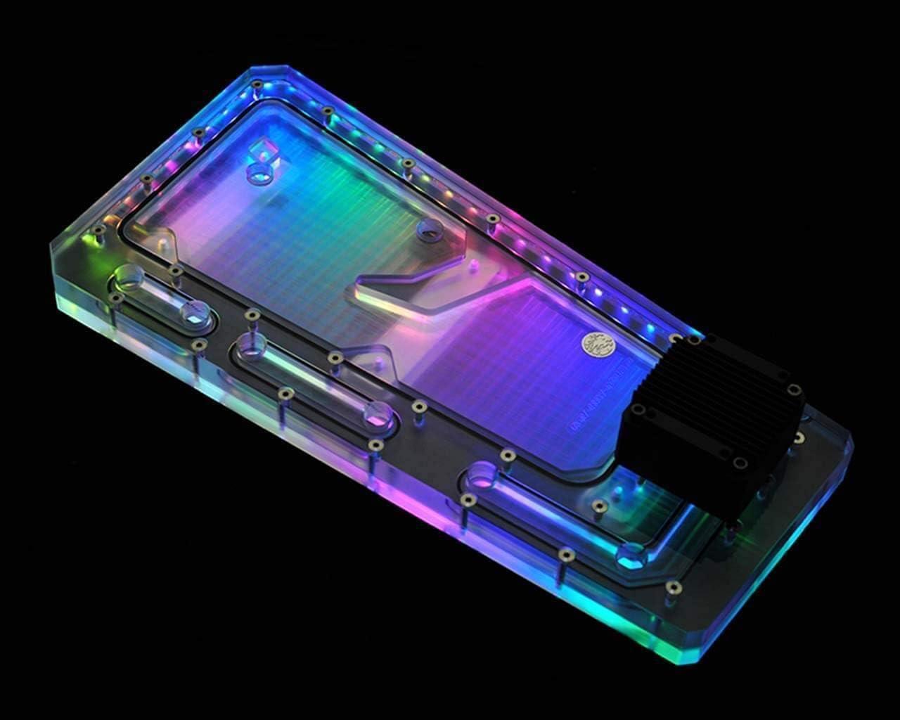 Bykski Distro Plate RBW PMMA w// 5v Addressable RGB InWin TOU2.0 RGV-INW-TOU2.0