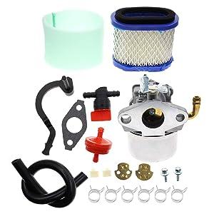 Carbhub 591925 Carburetor for Briggs and Stratton 698479 693518 69847 591925 Engine Motor Powered Chipper/Shredder Craftsman Garden Tiller with Air Filter Fuel Hose Replace 591925