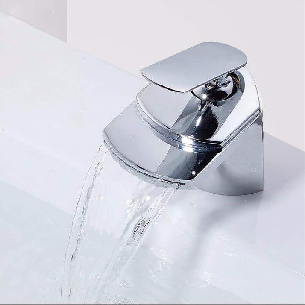 HQLCX Basin Sink Mixer Tap Full Copper Cold And Hot Basin Leading Champagne Rotating Single Hole Faucet,A