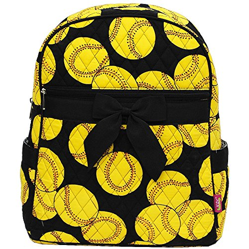 Softball Print NGIL Quilted Backpack (Sports Quilted Backpack)