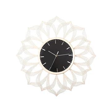 Clásico Reloj de Pared Tradicional 60cm Gran Reloj de Pared de Metal Antiguo Vintage Estilo Retro