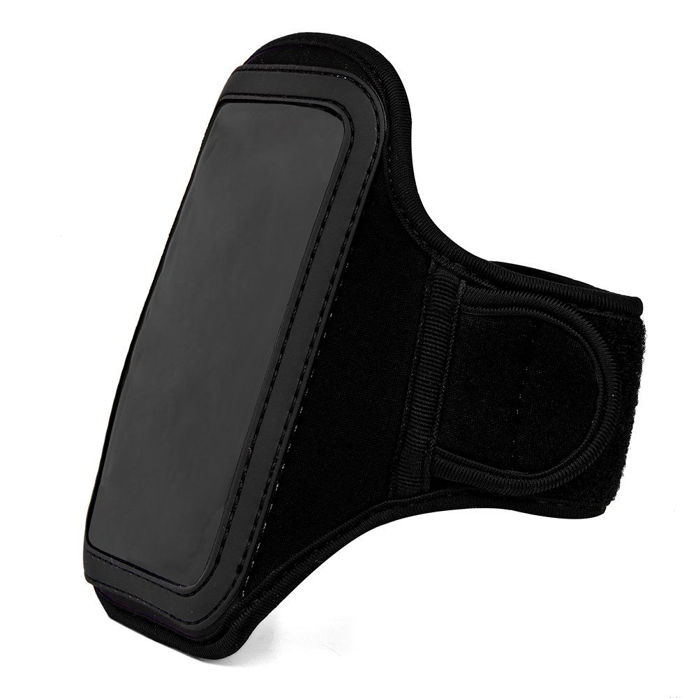 Sport Workout Water Resistant Neoprene Armband [Removable Hook-and-Look Strap] + [Key Slot] Black for BLU Dash L3 / Advance 4.0 L3 / Vivo 5 Mini/Tank Xtreme 4.0/2.4