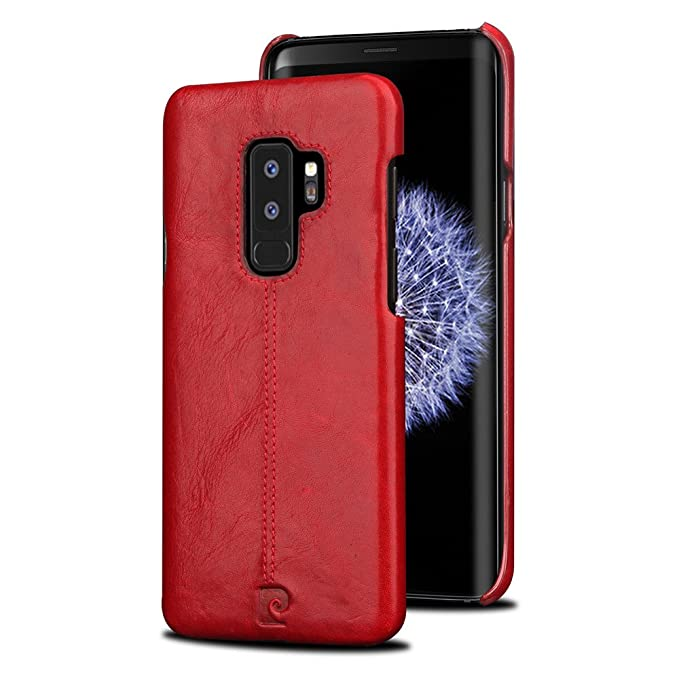 reputable site 85c7a 1a6f1 Samsung Galaxy S9 Plus,S9+ Leather Case,Pierre Cardin Premium Genuine Cow  Leather Back Case Snap Cover Classical Business Style fit for Samsung  Galaxy ...