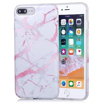 ZQ-Link iPhone 7 Plus Funda iPhone 8 Plus Funda marmol Negro ...