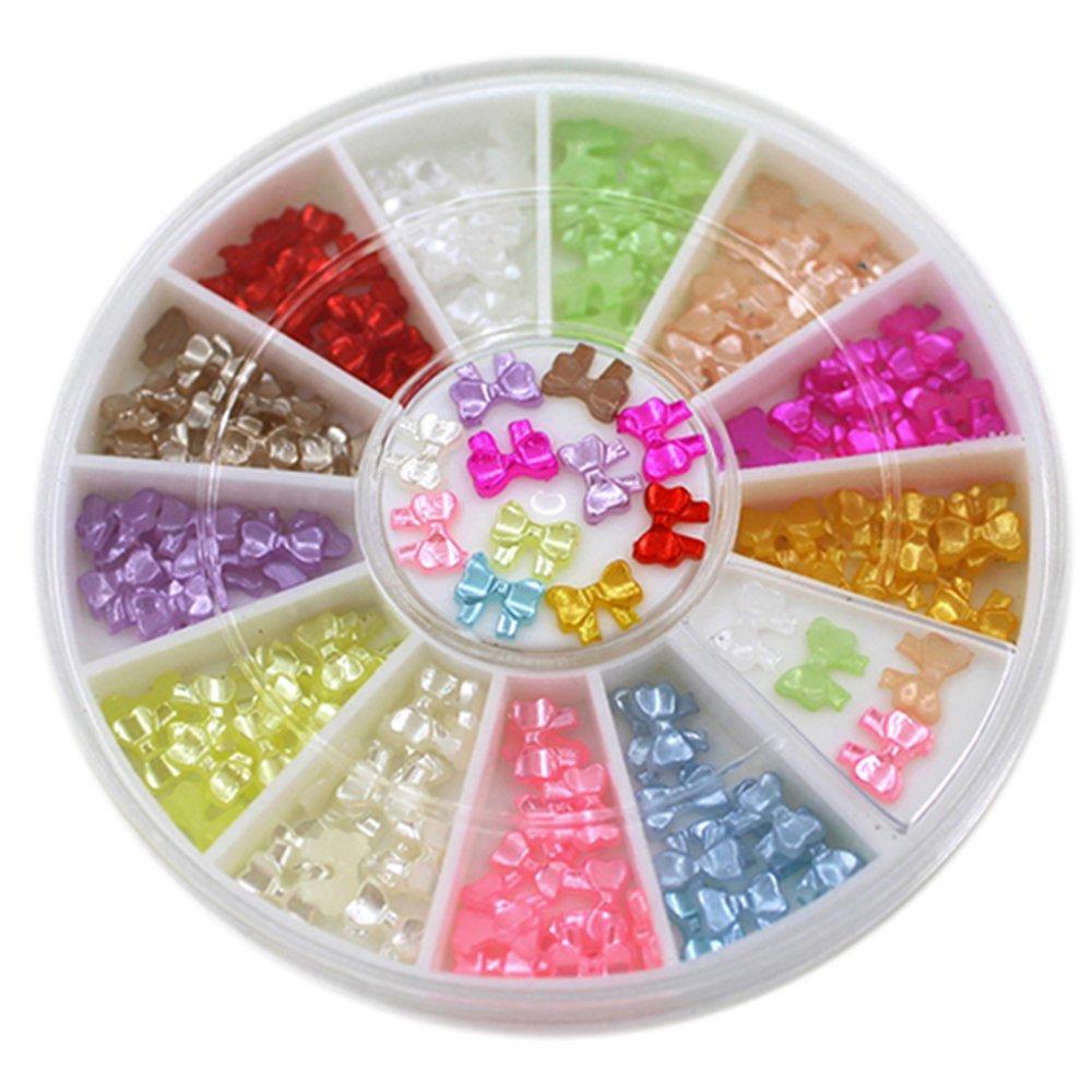 Bismarckbeer - Adorno de uñas en 3D, multicolor, acrílico, para decoración de uñas