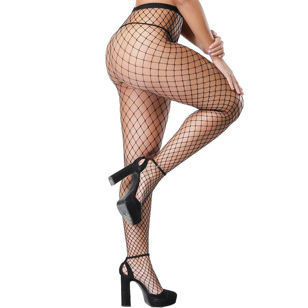 7a84dc588 Women s Hollow Out Fishnet Pantyhose Tights ( Large Mesh Black