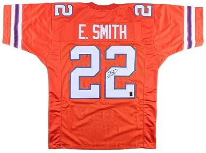 designer fashion c4dd3 c13f4 Emmitt Smith Signed Custom Orange College Football Jersey SI ...