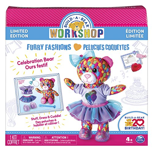 Build A Bear Workshop   Furry Fashions   Build A Bear 20Th Birthday Celebration Bear   Limited Edition