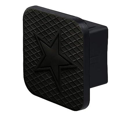 BoJie Car Trailer Hitch Cover,with Cowboys Logo for Cowboys Accessories Receiver Tube Hitch Plug(Black) (Cowboys): Automotive