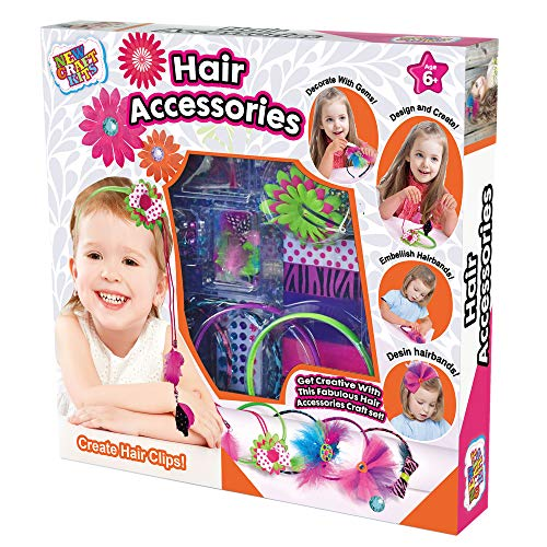 Fashion Headbands Craft Kit - Create Hair Accessories for Girls - Make Your Own different Unique Headband Accessories - Girls Hair Accessories Gift Set ()